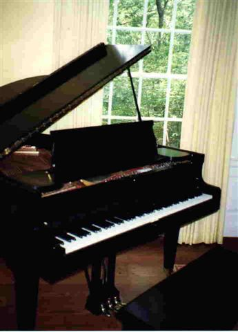 Chickering baby grand piano